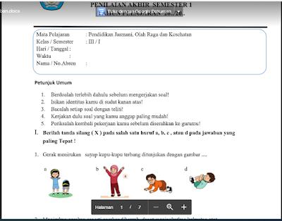 Berikut Soal UAS/PAS Tema 5 SD/MI Kelas 3 Kurikulum 2013