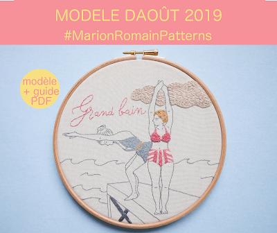 modèle broderie août 2019 #MarionRomainPatterns