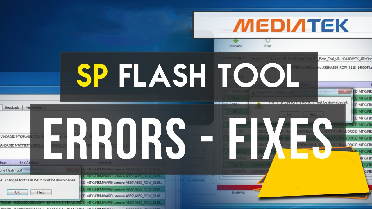 Tutorial] List of SP Flash Tool errors and how to solve them