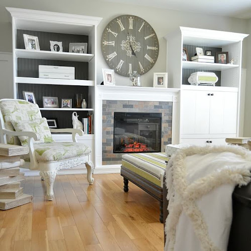 80s Wall Unit Hack Built-In Bookcases With Fireplace