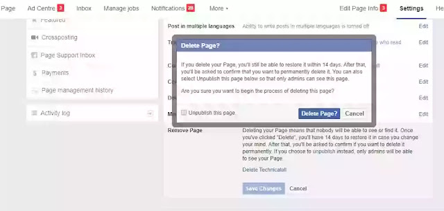 How to Delete Your Facebook Account, Page or Group