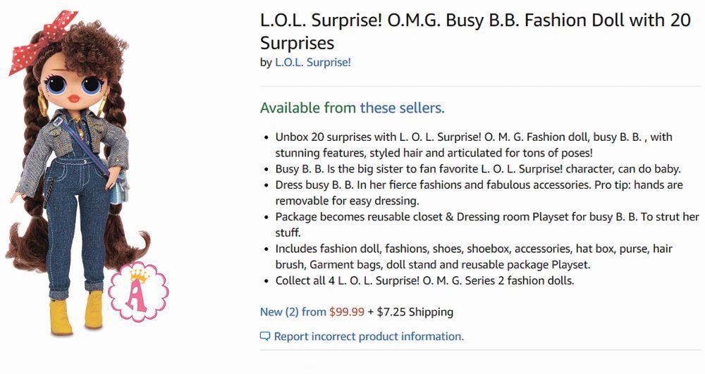 Цена куклы L.O.L. Surprise! O.M.G. Busy B.B.
