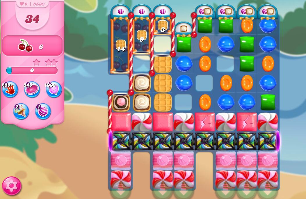 Candy Crush Saga level 8539