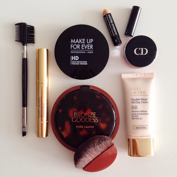 Essentials for a no makeup makeup look. Everyone will think you have flawless skin.