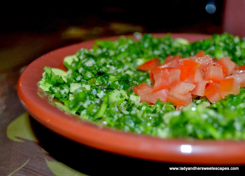 tabbouleh at Local House in Bastakiya Dubai
