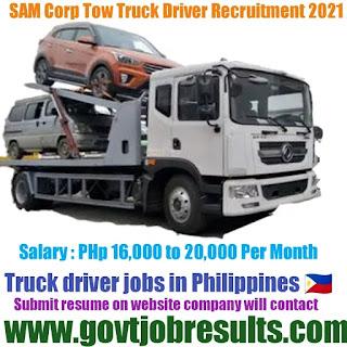 SAMS Corp Tow Truck Driver Recruitment 2021-22