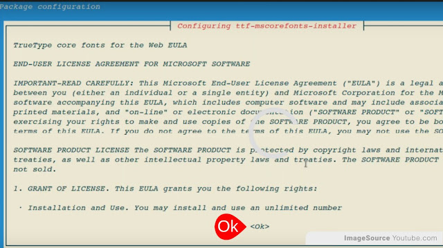 Lincense Agreement in Terinal Linux