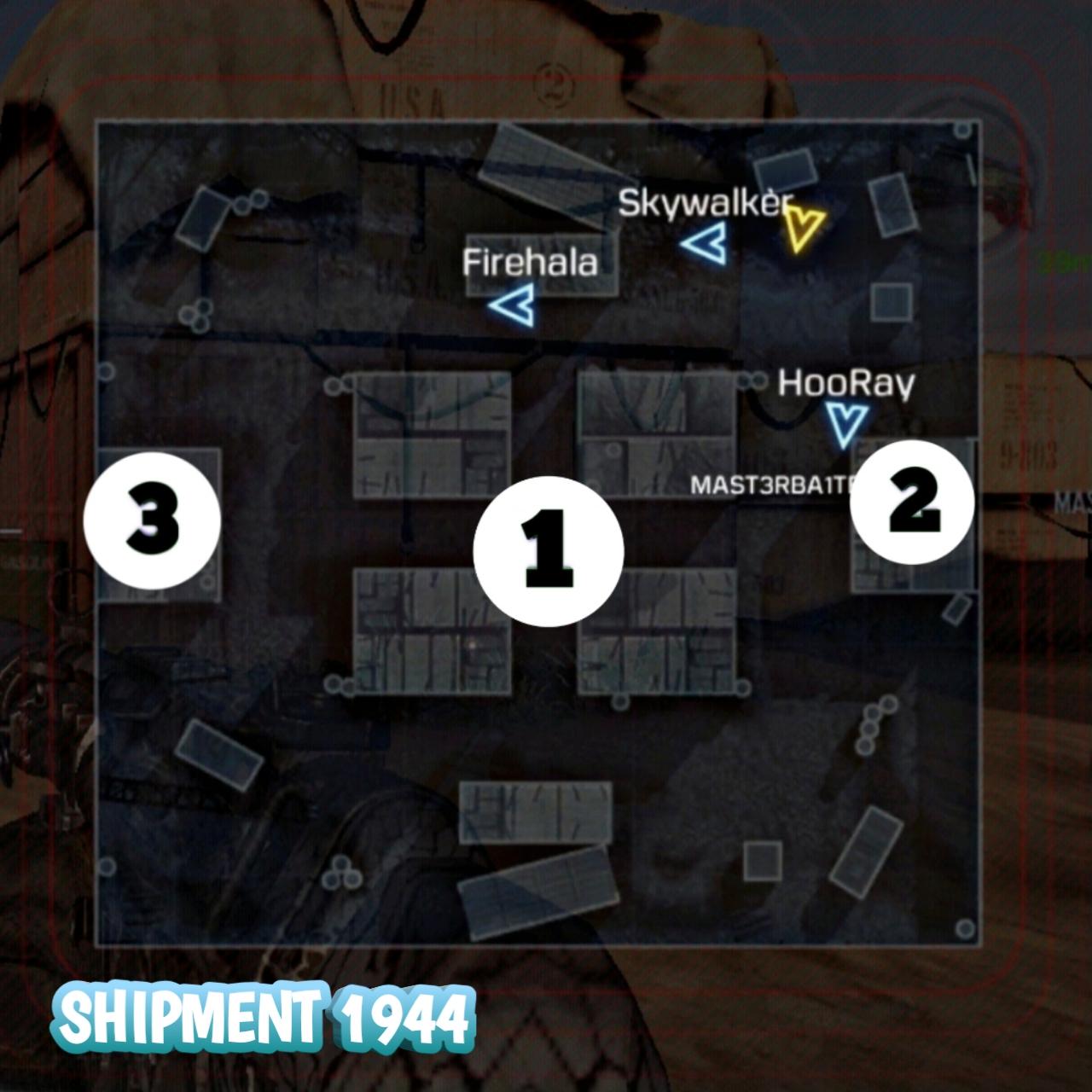 Shipment 1944 Hardpoint location
