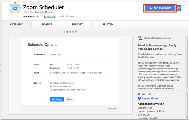 Set UP Zoom Extension for Browsers Web Chrome