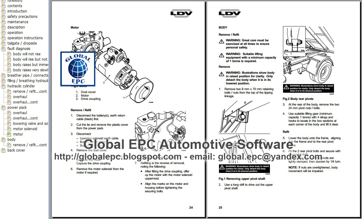 Auto Moto Repair Manuals  Ldv Convoy Pilot Workshop Repair Manual And Wiring Diagrams