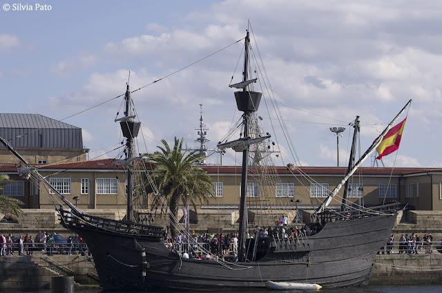 La Nao Victoria en el puerto de Ferrol