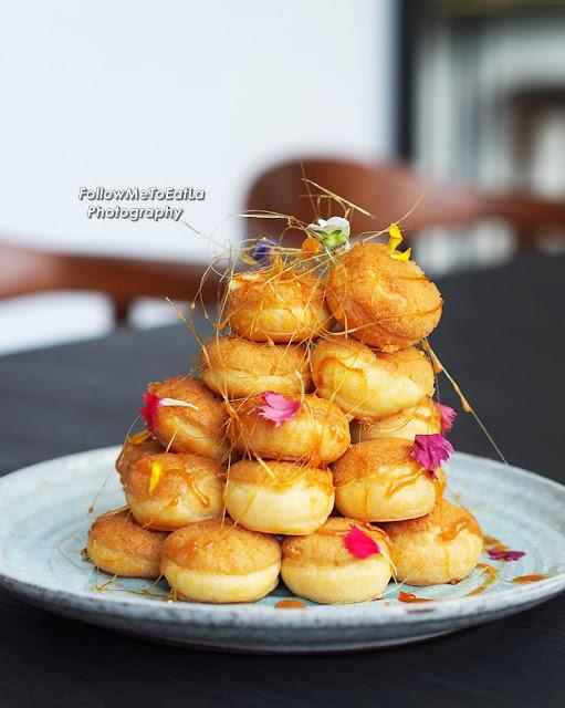 Croquembouche  (For 4 Persons) Profiteroles, Mango Passionfruit Cremeux, Caramel RM 80