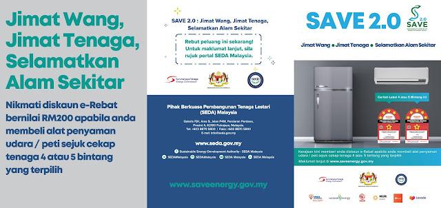 Program Save 2.0 e-rebat RM200