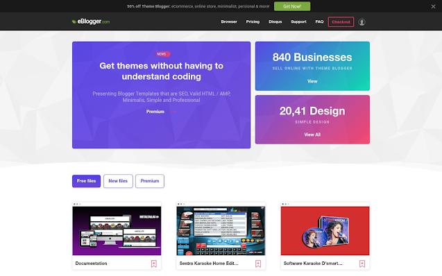 E-blogger - Latest Version-Premium Blogger Template Free Download.