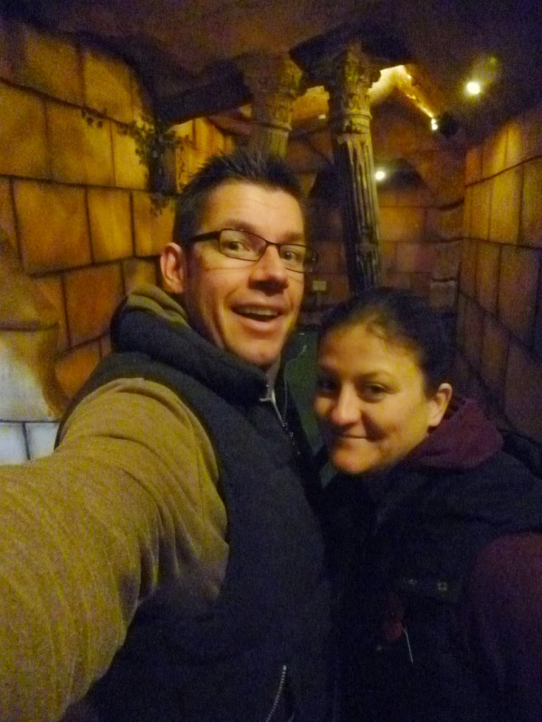 Richard and Emily Gottfried at the indoor Magical Adventure Golf at Manning's Amusements in Felixstowe