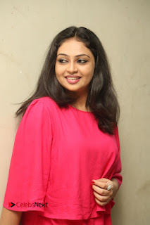 Actress Arundathi Nair Stills in Red Chididar at Bethaludu Success Meet  0047.JPG