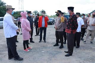 Pj Gubernur Jambi Kunker Posyan Penyekatan Jalan Lintas timur