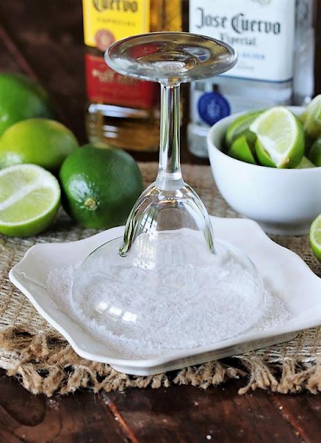 Salting Rim of Margarita Glass Image