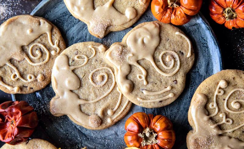 Glazed Brown Sugar Maple Cookies