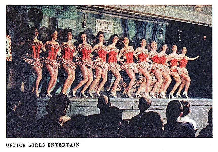 a 1948 chorus line photograph