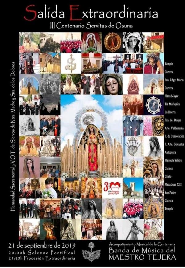 Cartel anunciador de la Salida Extraordinaria de Nuestra Señora y Madre de los Dolores de Osuna (Sevilla)