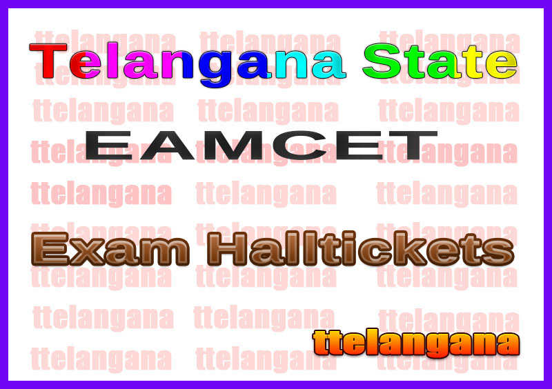 TS EAMCET  Halltickets Download