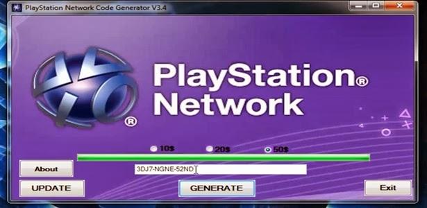 download psn code generator for pc