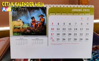 Cetak Kalender Meja atau Kalender Duduk Terbaik di Kiaracondong, Bandung