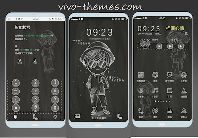 Simple Black Theme For Vivo Smartphone
