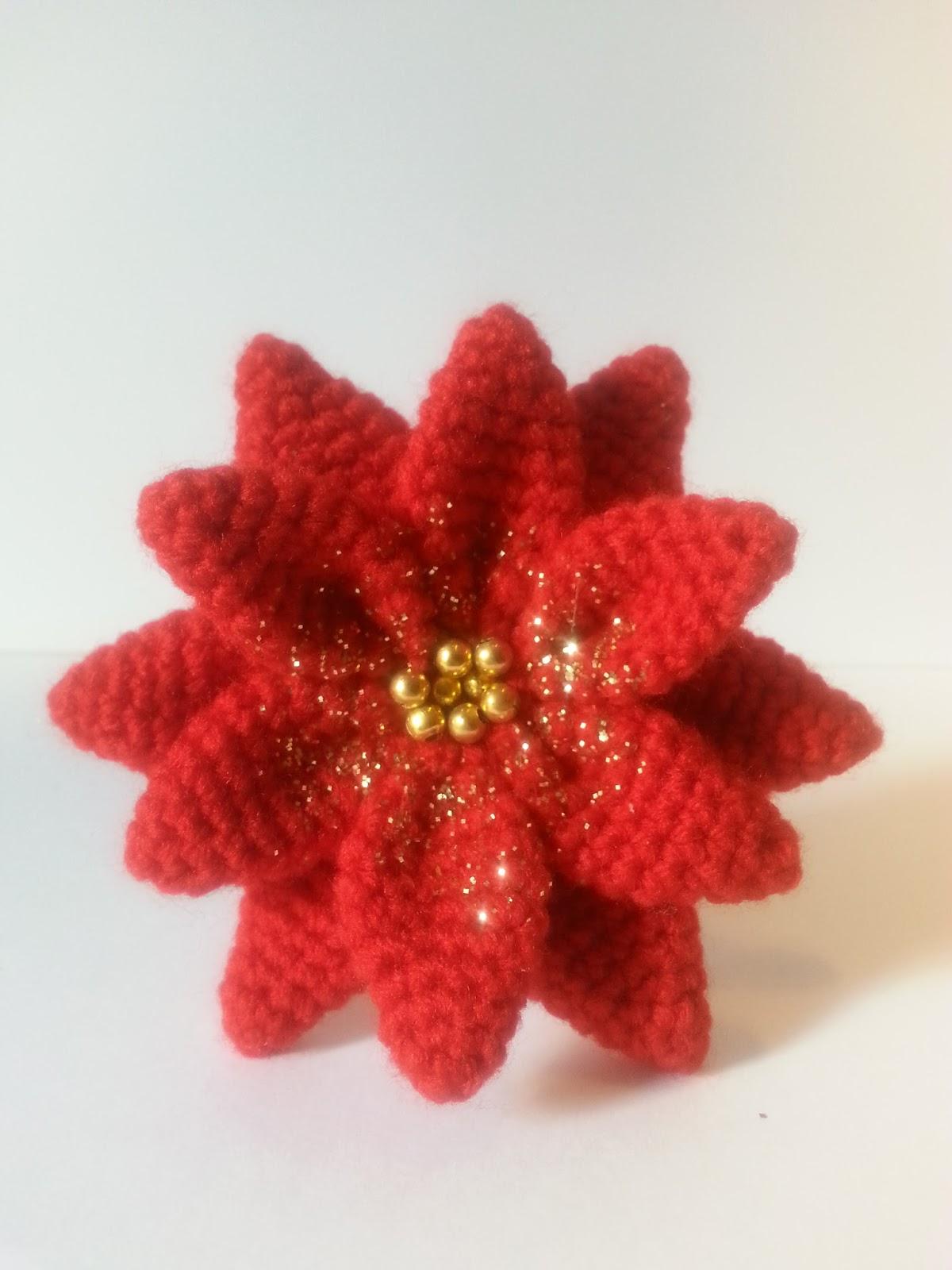 anygurumi: Dia1. Poinsettia-Flor de Navidad