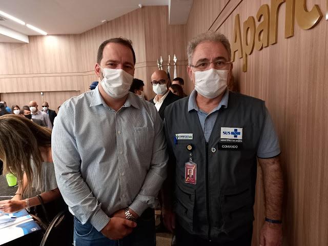 Presidente Alex Redano acompanha a visita do ministro da Saúde e pede mais vacinas para Rondônia
