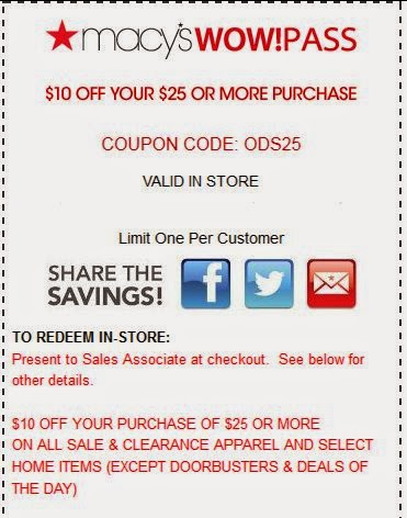 Grab the chance for a huge saving before it's gone. Apply the Macy's Coupon at check out to get the discount immediately. Don't forget to try all the Macy's Coupons to get the biggest discount. To give the most up-to-date Macy's Coupons, our dedicated editors put great effort to update the discount codes and deals every day through different.