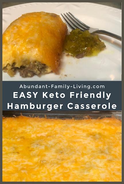 Easy Keto Friendly Hamburger Casserole