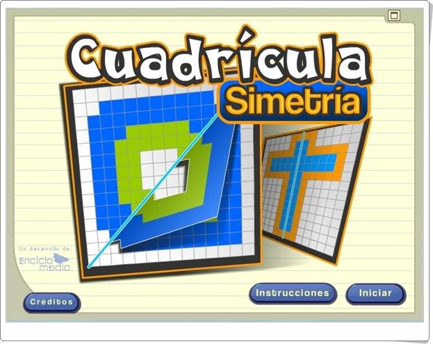 """""""Cuadrícula Simetría"""" (Aplicación de Geometría de Primaria)"""