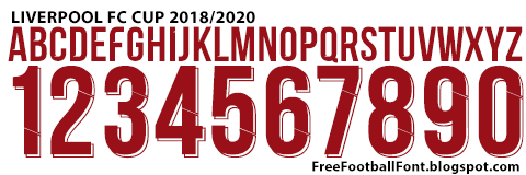 free football fonts liverpool fc 2018 2020 cup font liverpool fc 2018 2020 cup font