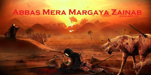 Abbas Mera Margaya Zainab Nawha lyrics