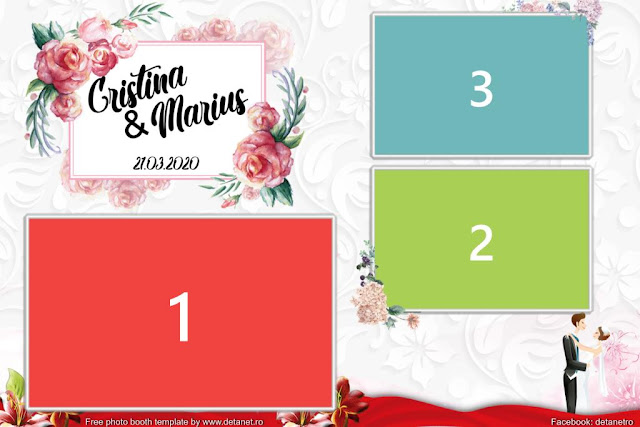 Free photo booth template for wedding 2020
