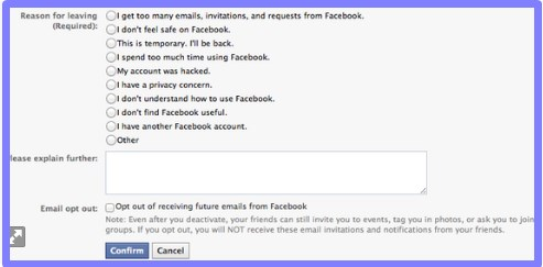 How to deactivate or delete your facebook account