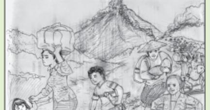 Bahan Untuk Membuat Gambar Cerita Dengan Teknik Kering Adalah Gambar Cerita Halaman 184 Belajar Kurikulum 2013