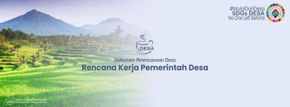 Format Rencana Kegiatan Pembangunan Desa RKP Desa 2021