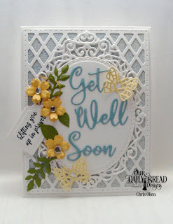 Our Daily Bread Designs Stamp Set: Get Well Wishes, Custom Dies: Bitty Blossoms, Ornate Ovals, Tag Trio, Oval Stitched Rows, Get Well Soon, Bitty Butterfly  Paper Collection: Shabby Rose