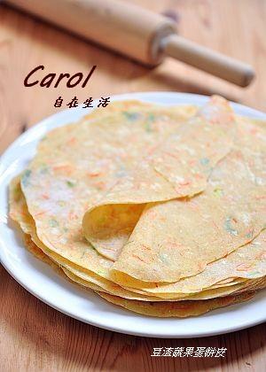 Carol 自在生活 : Whole wheat vegetable crepe。全麥蔬菜蛋餅 ( 附實作影片 )