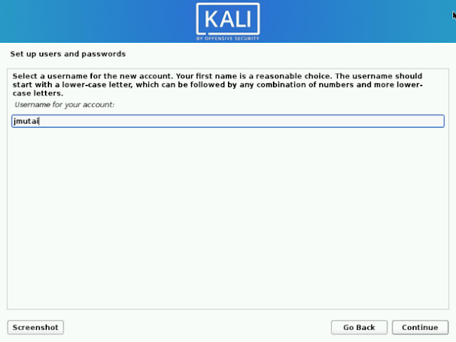 Username Kali Linux Non Root