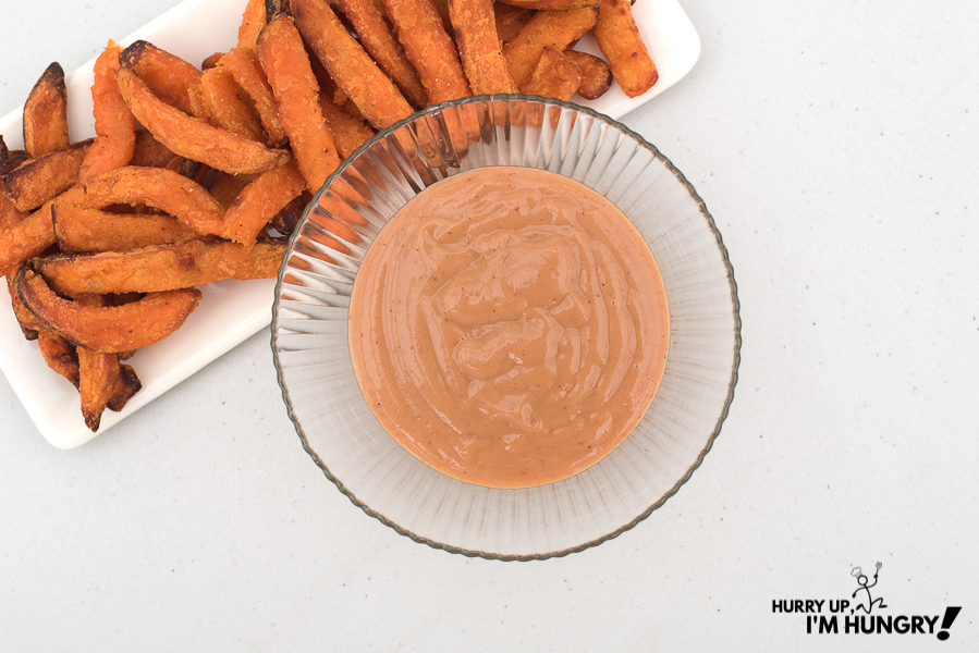 Homemade sweet potato fries dip