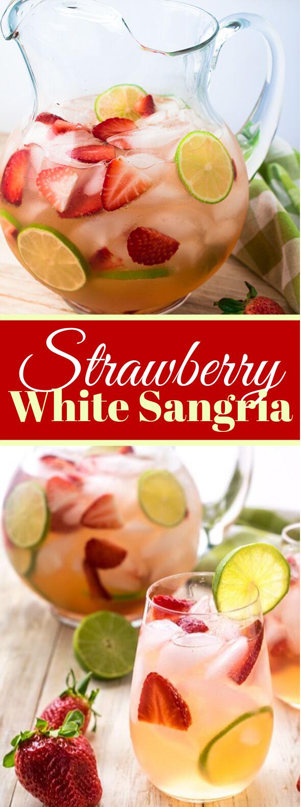 REFRESHING STRAWBERRY SANGRIA RECIPE #drinks #freshfruit