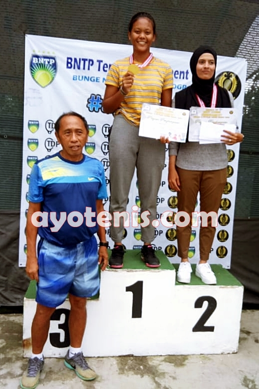 Novela Rezha Juara BNTP Tennis Tournament  Dunlop Elite Club Tennis Circuit Seri 3