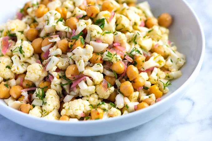 ★★★★★ |   Herby Cauliflower Salad with Chickpeas