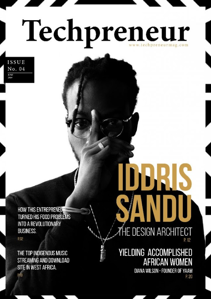 Ghanaian Tech Prodigy, Iddris Sandu Covers Techpreneur Magazine