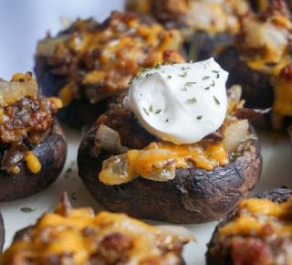 Sausage Stuffed Mushrooms #keto