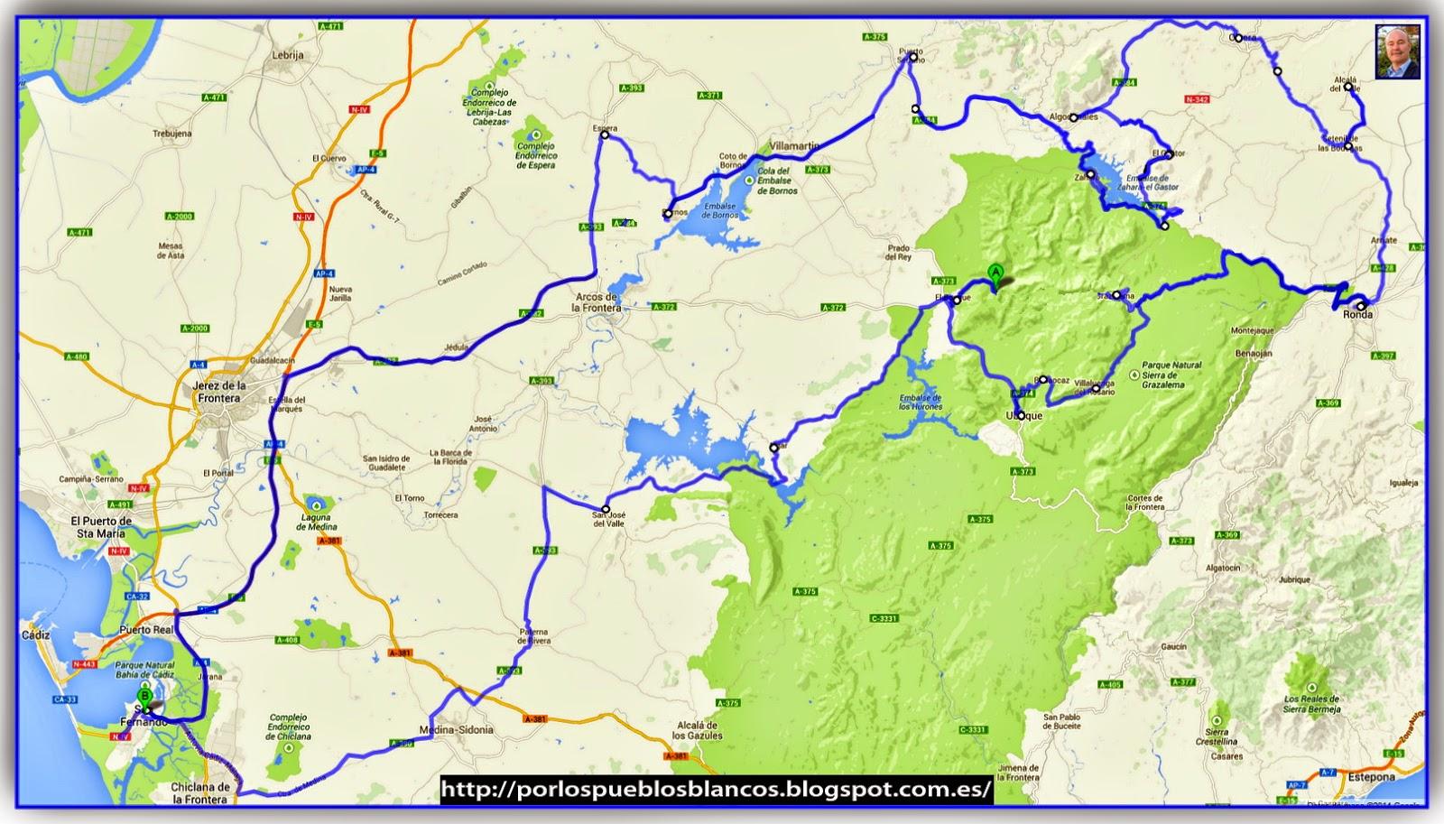 Mapa Pueblos Blancos Cadiz.Pueblos Blancos Cadiz Y Ronda Malaga Pueblos Blancos